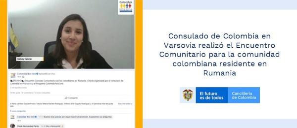 Consulado de Colombia en Varsovia realizó el Encuentro Comunitario para la comunidad colombiana residente
