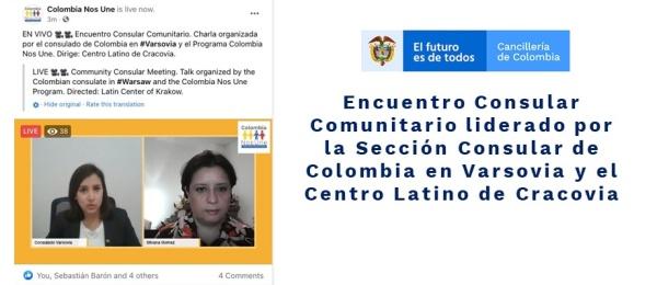 Encuentro Consular Comunitario liderado por la Sección Consular de Colombia en Varsovia